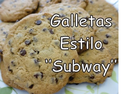 Como Hacer Galletas de Chispas de Chocolate Estilo ''Subway'' - Tutorial