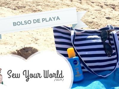 Como Hacer un Bolso de Playa DIY