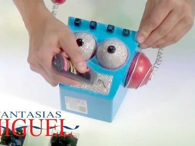 Como hacer un dulcero cabeza de robot