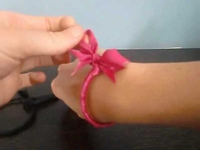 Cómo hacer una pulsera de raso