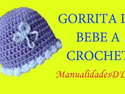 Como tejer una Gorrita de bebe super fácil a crochet paso a paso