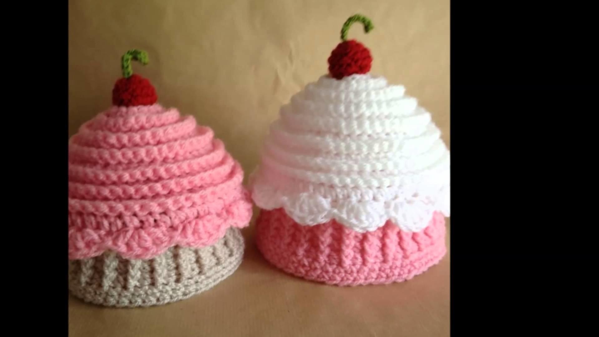 Cupcake tejidos en crochet