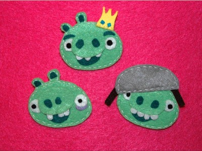 DeCorArte Complementos .- Broches Angry Birds