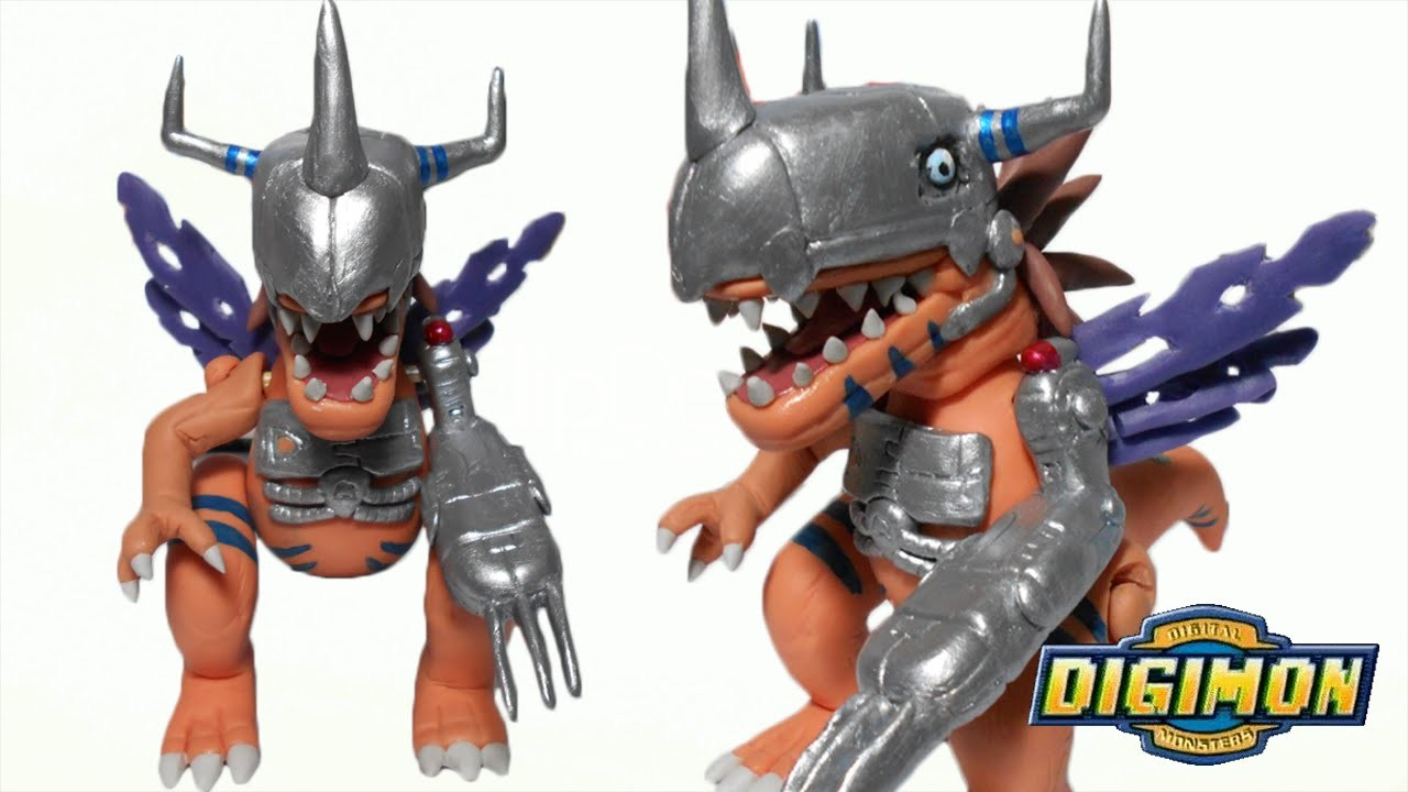 Digimon | MetalGreymon Posable Figure Polymer Clay Tutorial | Collab with Luu drawing&craft
