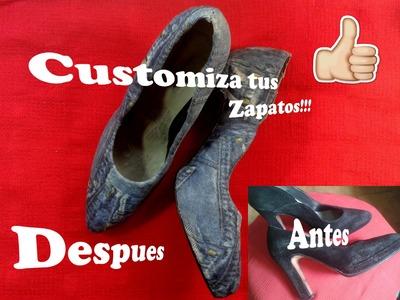 DIY: Customizar, reciclar  tus zapatos