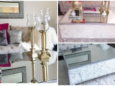 DIY MIRRORED COFFEE TABLE- HAZ TU MESA DE ESPEJO