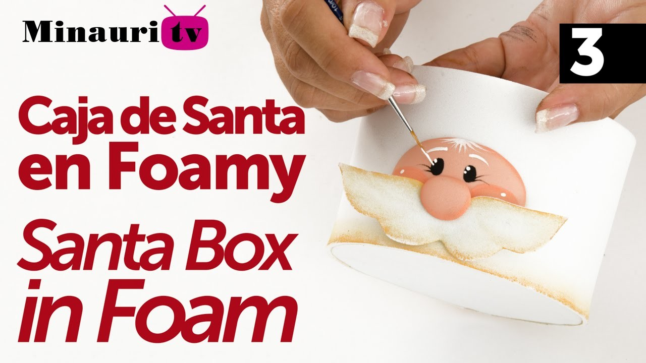 DIY - Navidad Caja Santa en Foamy 3.3 - ( Christmas Santa Box )