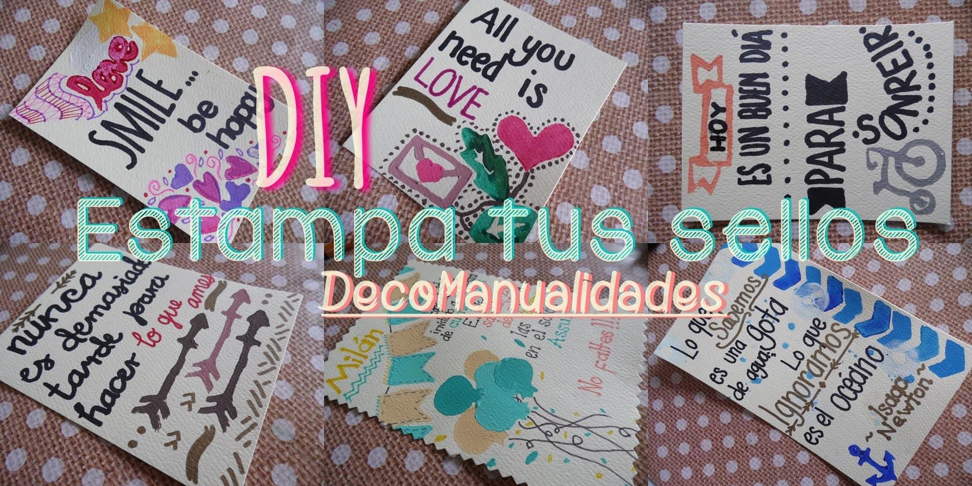 DIY Sellos Caseros - Tutorial Estampa tus propios Sellos