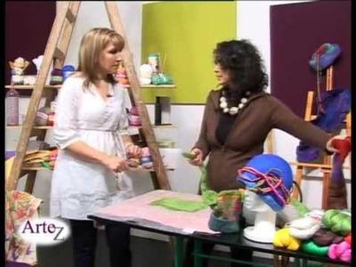 Hilados LHO en ARTEZ TV. Técnica Fieltro con vellón LHO