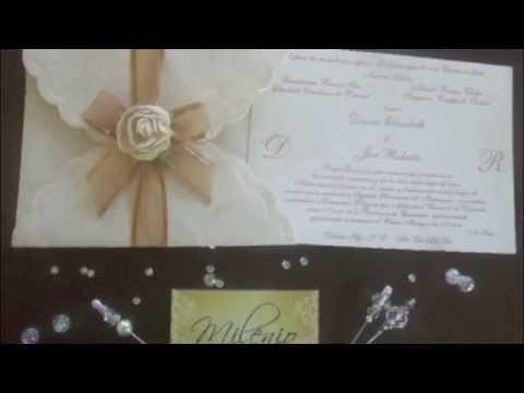 Invitaciones de Boda Artesanales (Envío nacional e internacional sin costos adicionales)