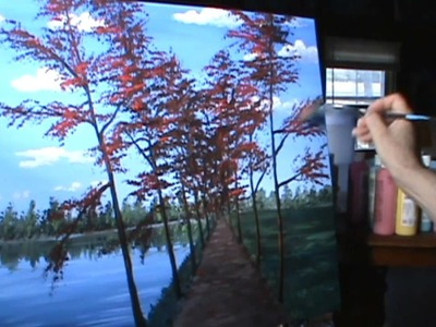 Pintar paisaje de otoño completo leccion de pintura acrilica arte