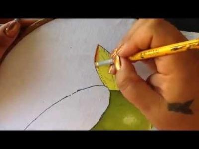 Pintura en tela frutero # 4 con cony