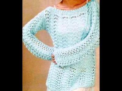 Sueter Mujer Crochet - Ganchillo ( Imagenes de tejidos )