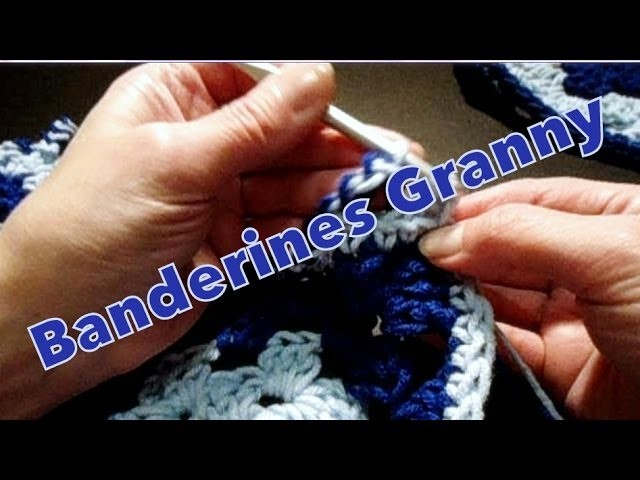 Banderines granny (granny's pennants) reeditado -tejido para zurdos-