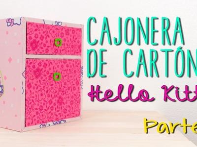 Cajonera de Cartón Hello Kitty - DIY Gavetero Organizador ♥ - Parte 2.2 - Catwalk Cartonaje