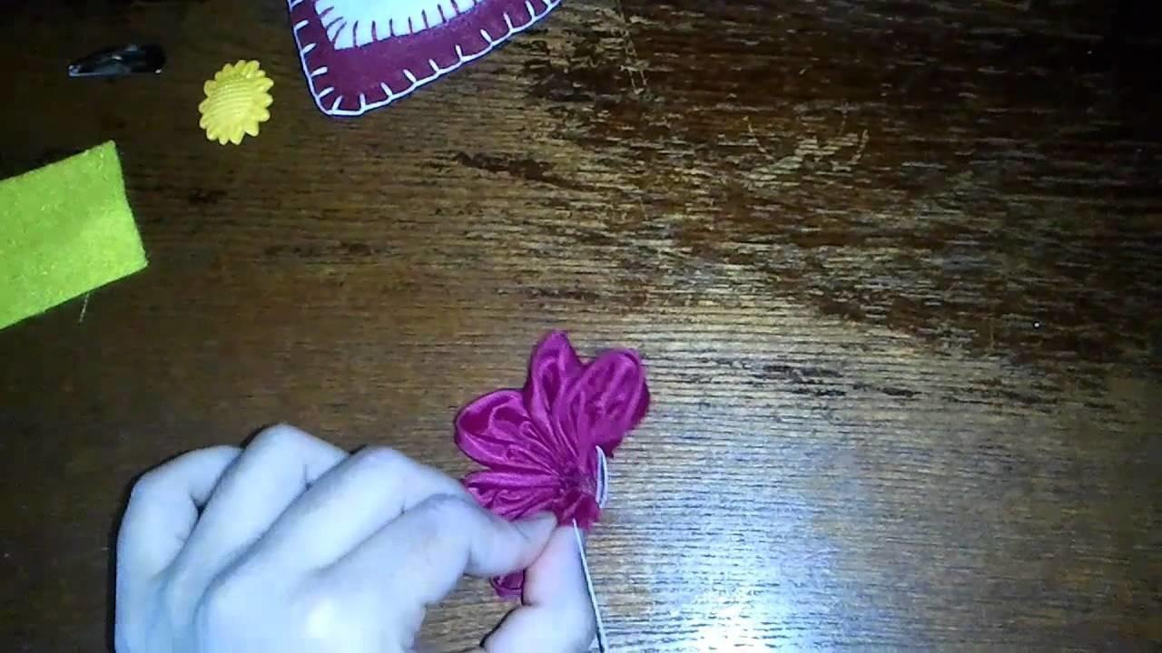 Creatividades:Como hacer flor de tela