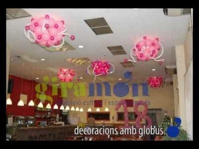 Decoración con globos - Decoració amb globus.FLV