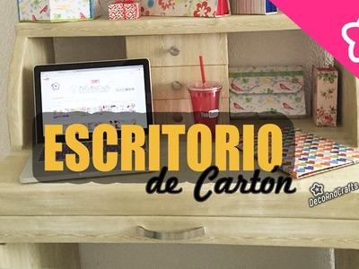 Escritorio de cartón apariencia de Madera DIY Tocador | Muebles de cartón DecoAndCrafts