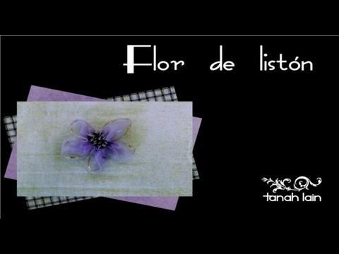 Flor con listón