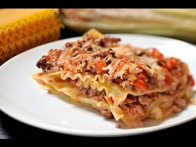 Lasaña a la boloñesa - Lasagna Bolognese