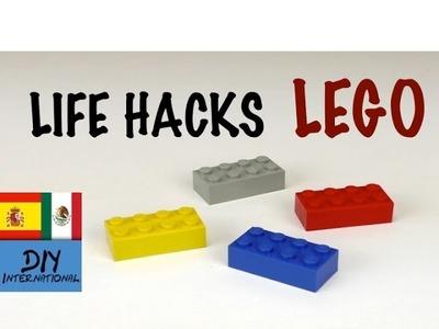 LIFE HACKS LEGO - TRUCOS CASEROS CON PIEZAS DE LEGO - TUTORIAL DIY