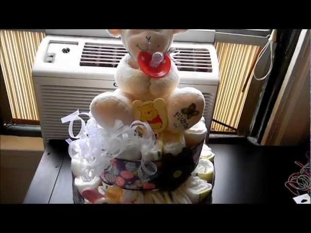Obsequio para baby shower (pastel de panales)