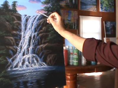 Pintar Cascada Con Acrilicos Leccion de pintura