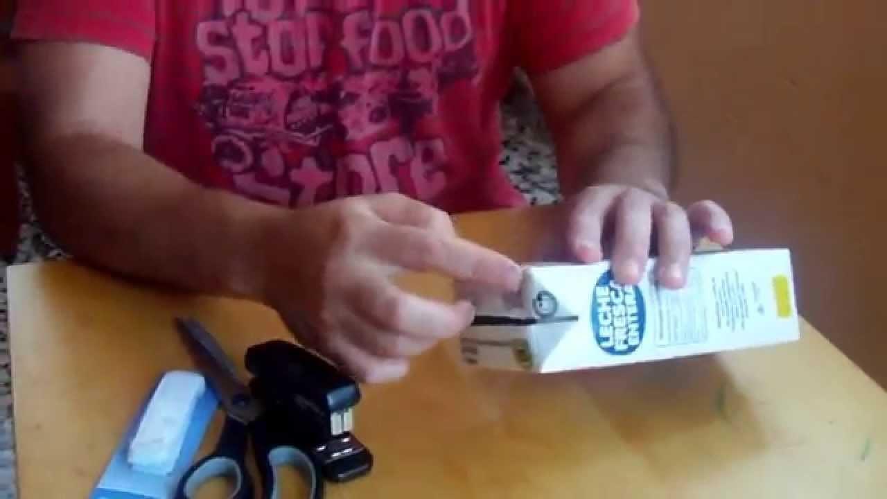 Reciclaje extremo How To hacer cartera con tetrabrick de leche DIY Wallet