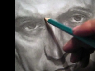 Retrato profesional - Kirk Douglas - Vincent  van Gogh ( original HD ) Dibujo a lapiz ,portrait