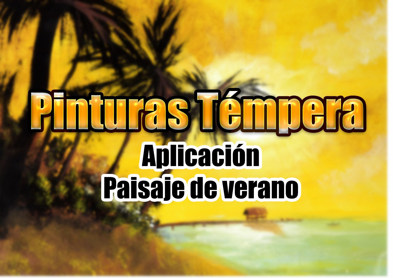 Técnicas de ilustración 14 PINTURAS TEMPERA cap. 2 Aplicación (Paisaje de verano)