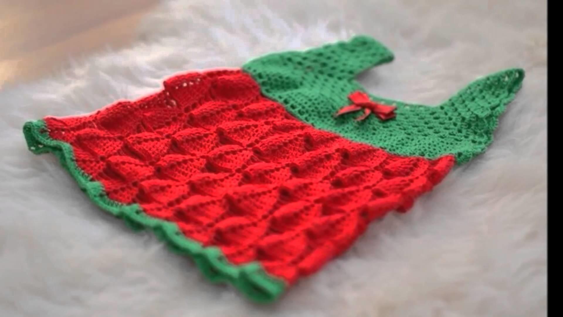 Vestido a crochet para niña de 0 a 3 meses