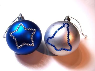 Abalorios Manualidades - Bolas de Navidad con Hot-Fix