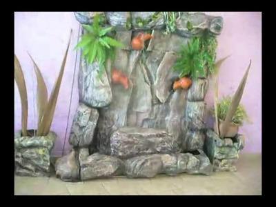 Cascada artificial imitacion lajas de rio
