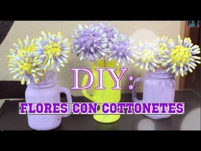 Colaborativo Primavera: DIY- Flores Con Bastoncillos De Algodon