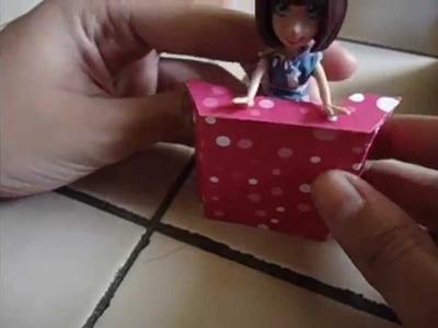 Cómo hacer un mostrador para muñecas