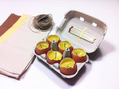 Cómo hacer velas en cáscaras de huevo (Tutorial DIY)