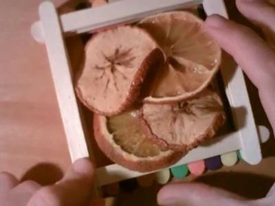 Como secar fruta en casa y como hacer una rosa con una cascara de naranja