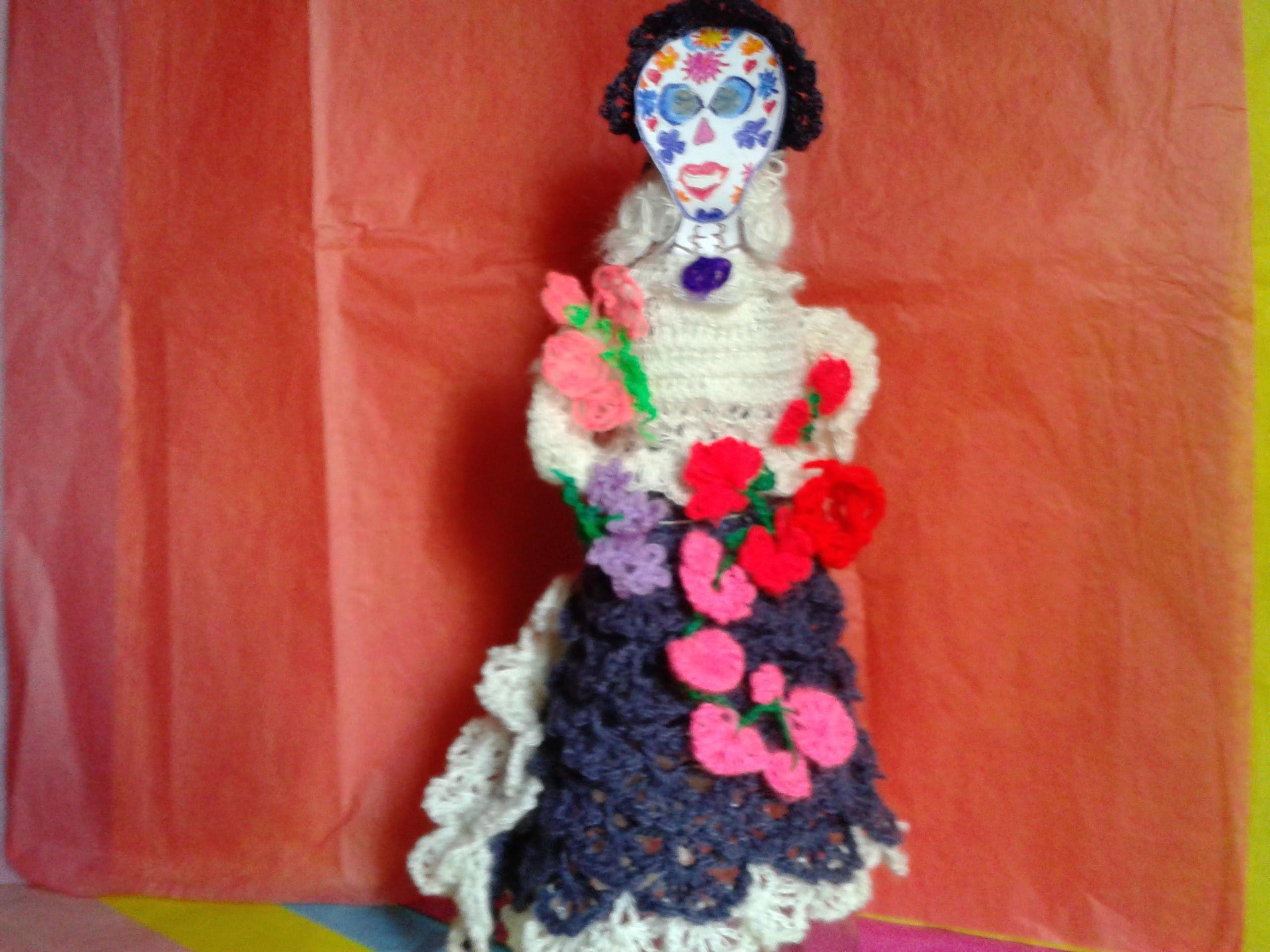 COMO TEJER BLUSA Y FALDA DE CATRINA PINTORESCA , A CROCHET