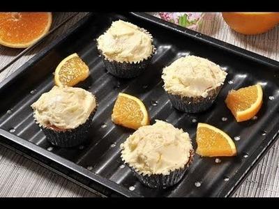 Cupcakes de naranja - Recetas de postres - Recetas de desayunos