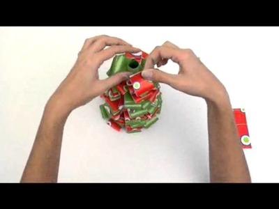 Hacer un arbol de navidad papel.flv