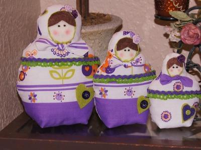 MATRIOSKAS.  Muñequitas Rusas en Tela