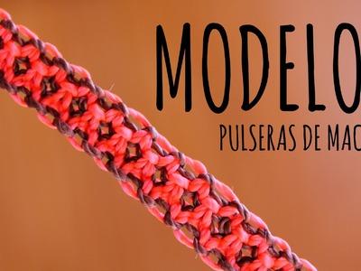 Modelo 7. Pulseras de macramé ♥