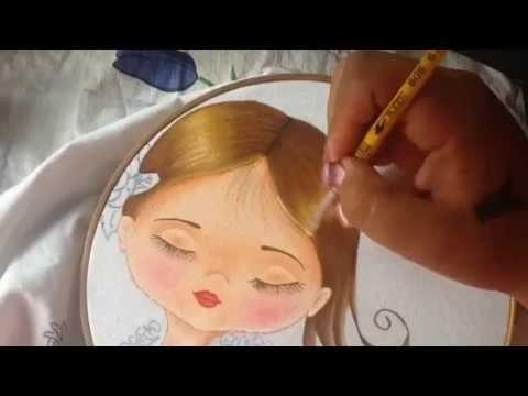 Pintura en tela niña rosa # 2 con cony