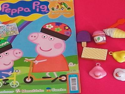 Revista Peppa Pig con muchos regalos, juguetes, manualidades, juegos, cuentos en español