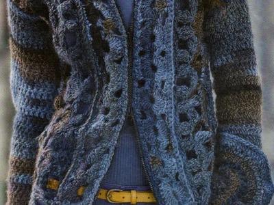 Suéter Largo con Cierre a crochet