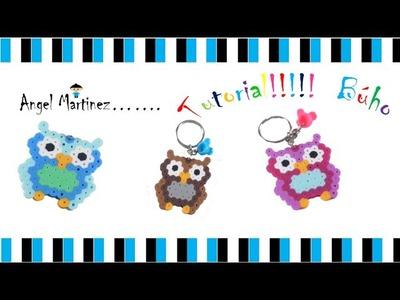 Tutorial!!! Llavero Búho. Keychain Owl Perler Beads Hamas