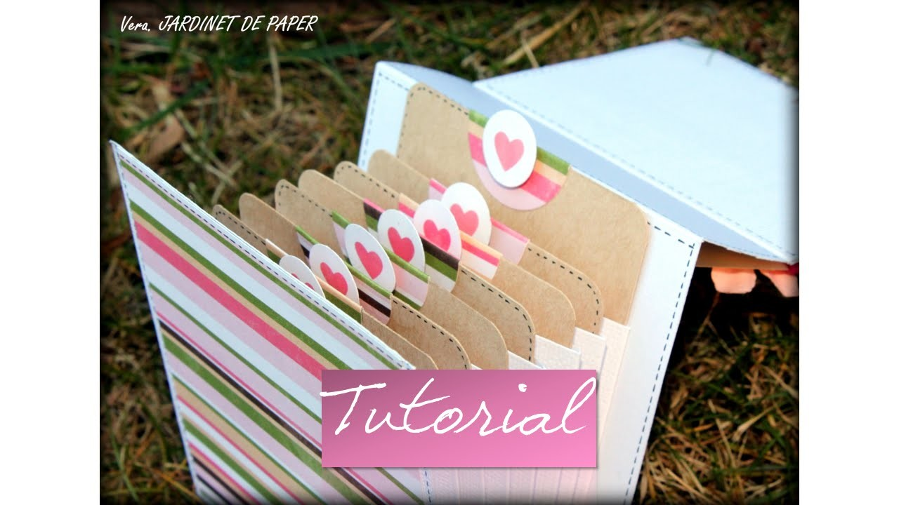 TUTORIAL MINI ALBUM TARJETAS FACIL