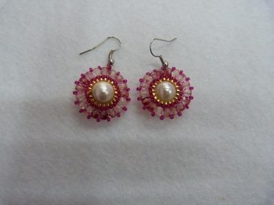 Tutorial pendientes con perlas y bohemias