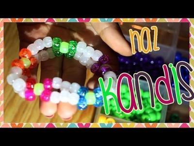 Como hacer pulseras Kandi de flor ✿ - DIY #TutorialesRaver