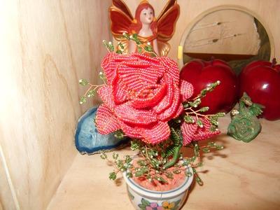 DIY Cómo armar tus macetas de flores de chaquira.mostacilla